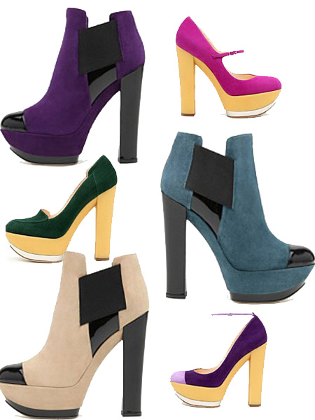 Style Bubble: Chunky Casadei :  womens casadei booties high heels